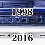 MacBook Pro 2016発売記念 18年間でどれだけ端子が減ったか?
